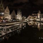 Foto, Gent bij nacht