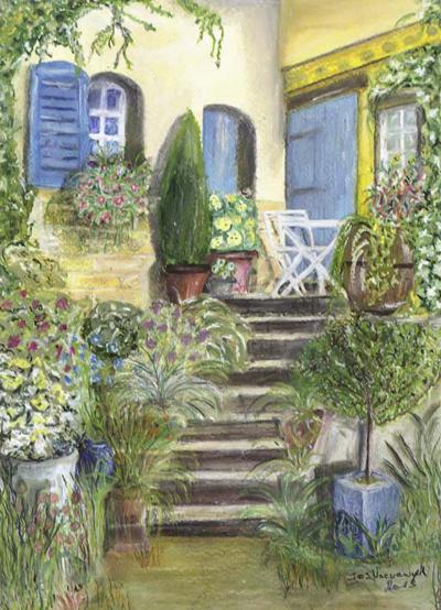 La Douce France, pastelschilderijtje