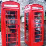 Foto Engelse telefooncellen