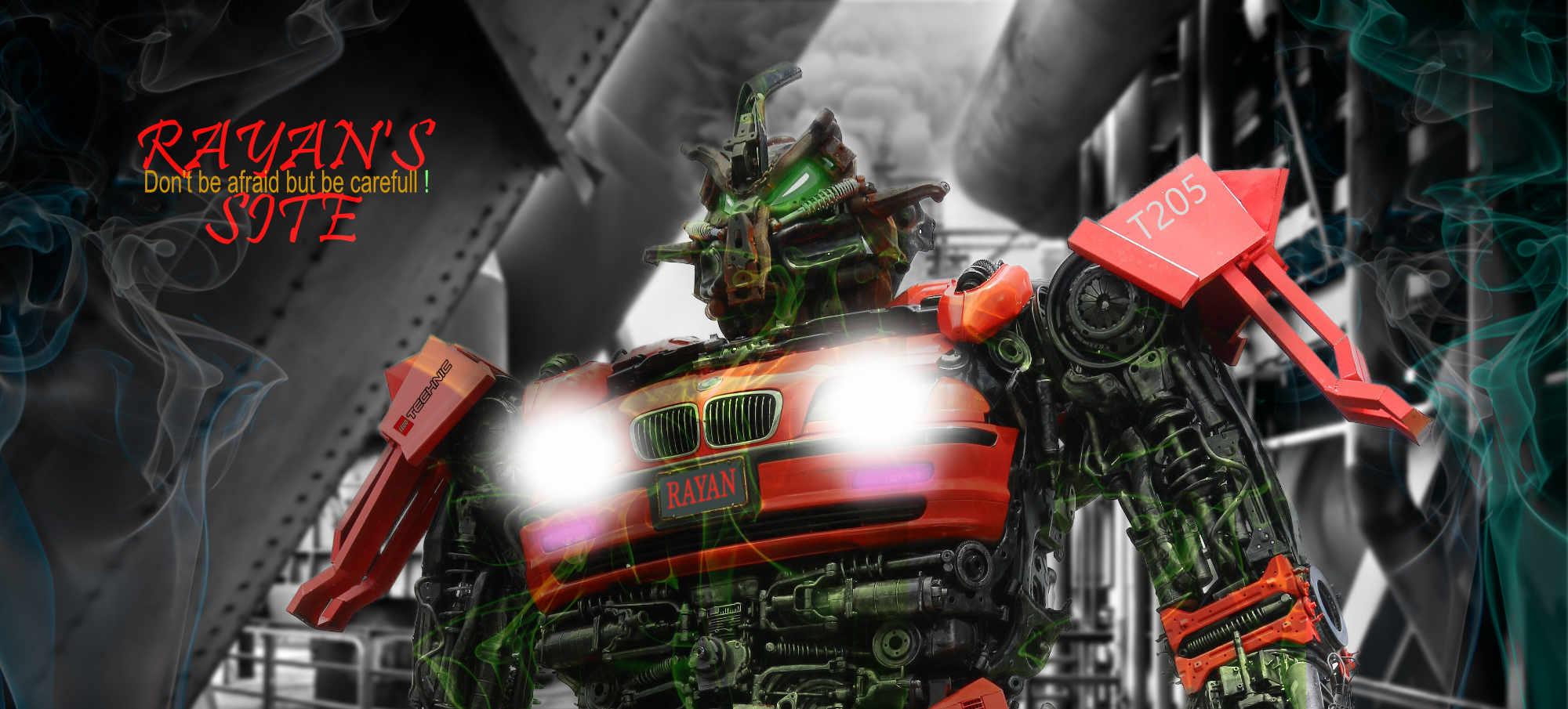 Rayan's website header Robot thema