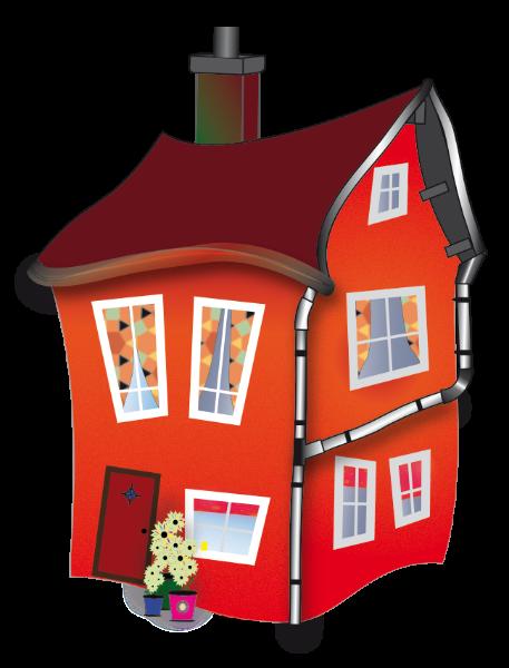 Illustratie leuk Rood huis voor kinderen