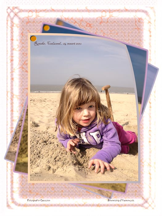 Renske aan het strand